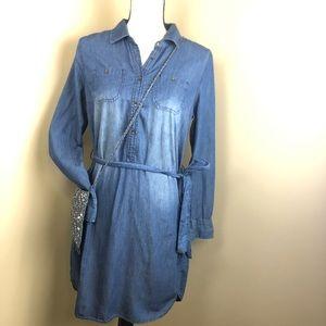 Dresses & Skirts - DENIM dress tunic button down